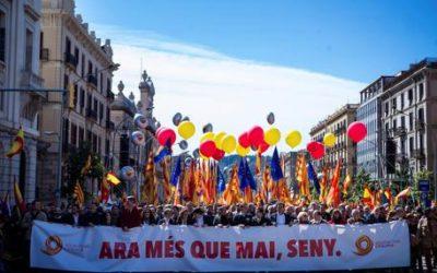 Catalogna: unionisti tornano in piazza