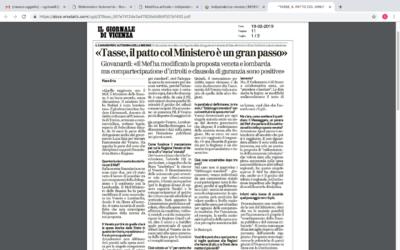 Tasse, il patto col ministro è un gran passo