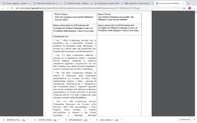 Autonomia, il testo integrale della bozza d'intesa distribuita ai parlamentari il 4 febbraio