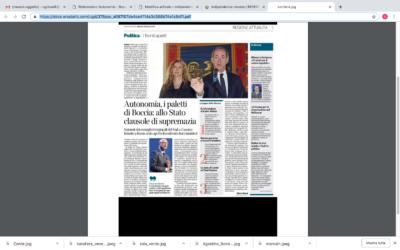 Autonomia. I paletti di Boccia: allo Stato clausole di supremazia.