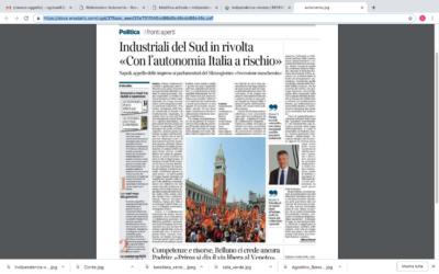 """Industriali del sud in rivolta """"Con l'autonomia Italia a rischio"""""""