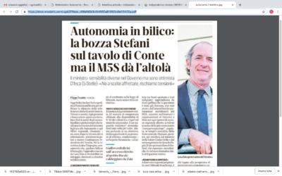 REFERENDUM AUTONOMIA Autonomia in bilico