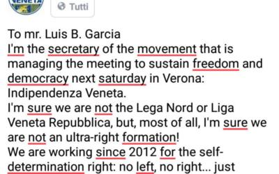 """Risposta di Massimo Vidori alle insinuazioni senza fondamento del giornale """"La Vanguardia"""""""
