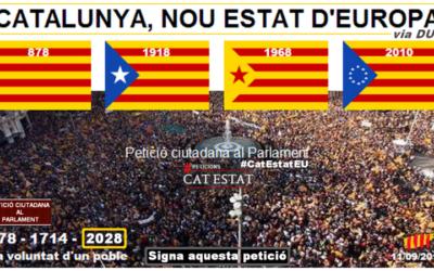 Petizione al Parlamento Catalano perché proceda con la dichiarazione unilaterale d'indipendenza