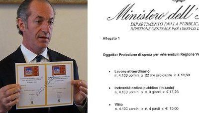 Veneto, referendum sull'autonomia: il Governo chiede 2 milioni per le forze dell'ordine