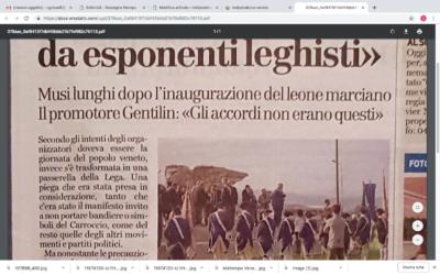"""""""Palco preso d'assalto da esponenti leghisti"""""""