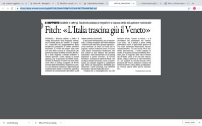 L'Italia trascina giù il Veneto