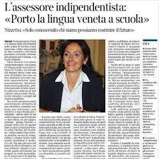 """L'assessore indipendentista, Silvia Nizzetto: """"porto il veneto nelle scuole"""""""