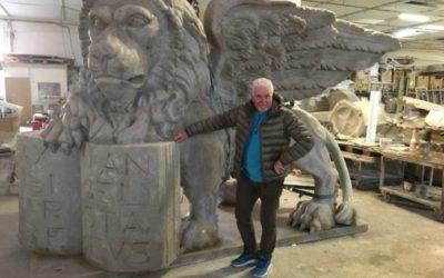 Il Leone di San Marco più grande al mondo pronto a ruggire